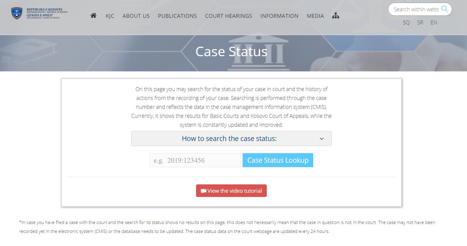 USAID's JSSP in Kosovo Helps with Online Access to Court Case Status