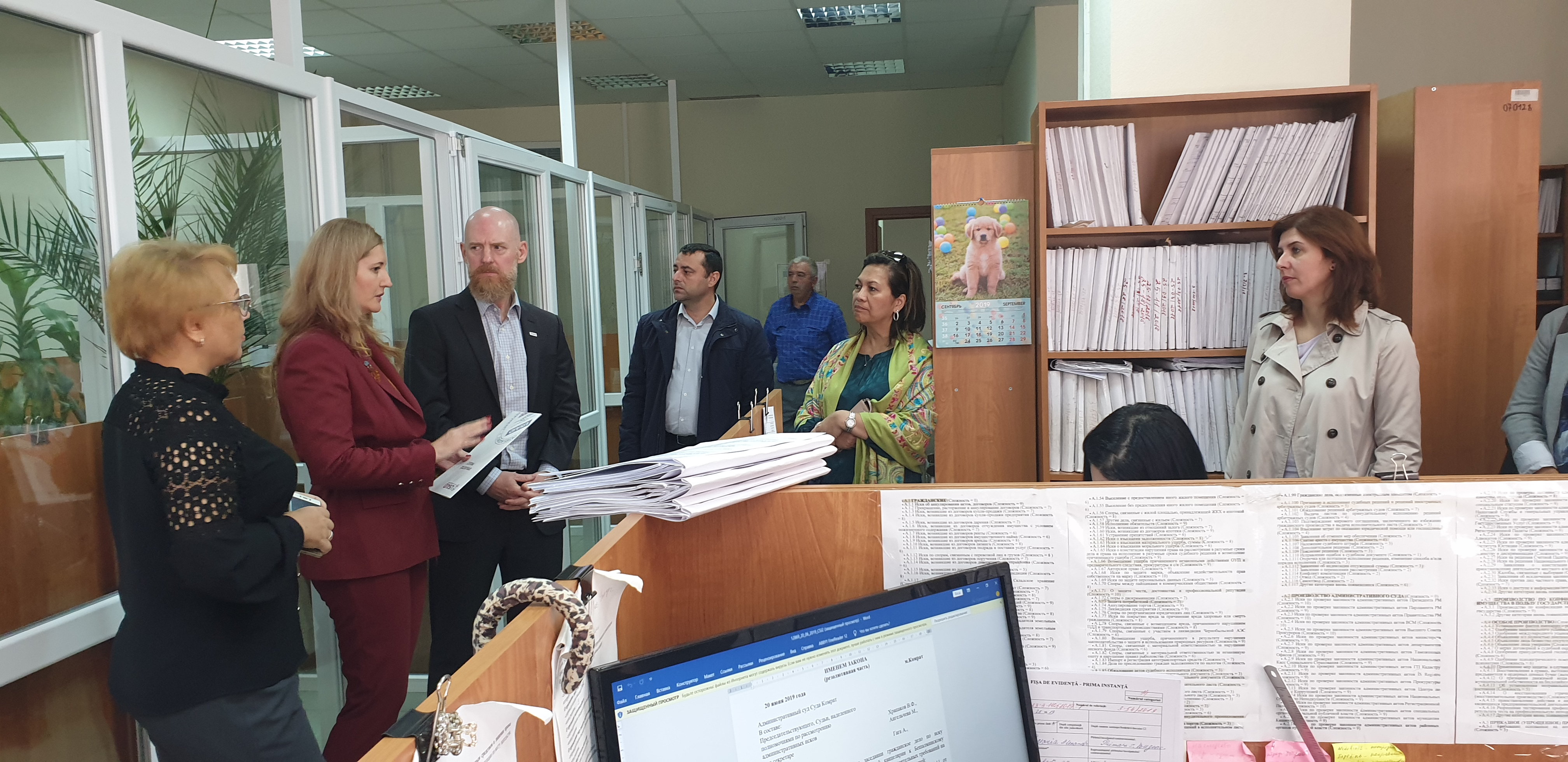 USAID Visit to Comrat District Court